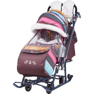 Детские санки-коляска Ника Детям 7-3 (скандинавский розовый) (1373467/1373462)