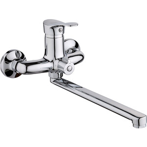 Смеситель для ванны РМС SL86 с длинным изливом (SL86-006E) смеситель для ванны рмс с длинным поворотным изливом sl68 143 1
