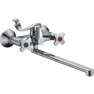 Смеситель для ванны РМС SL115 с длинным изливом (SL115-140E) смеситель для ванны рмс с длинным поворотным изливом sl68 143 1