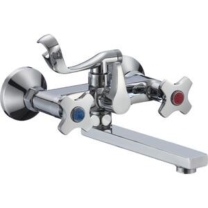 Смеситель для ванны РМС SL115 с коротким изливом (SL115-142E) смеситель для ванны рмс sl77 черный с коротким изливом sl77bl 009e