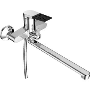 Смеситель для ванны РМС SL121 с длинным изливом (SL121BL-006E) смеситель для ванны рмс с длинным поворотным изливом sl68 143 1