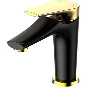 Смеситель для умывальника РМС SL122 черный, золотистый (SL122BL-001F) смеситель для умывальника рмс sl94 161f