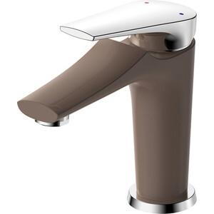 Смеситель для умывальника РМС SL122 шоколадный, серебристый (SL122BW-001F) смеситель для ванны рмс sl122 с длинным изливом sl122bw 006e
