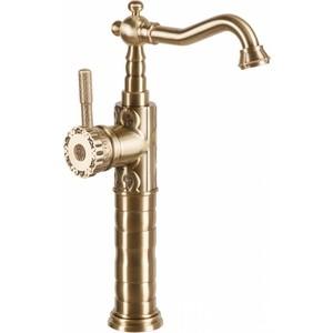 Смеситель высокий для раковины / мойки Bronze De Luxe бронза (21888) кран сливной для бани bronze de luxe насадка для шланга бронза 21982 2
