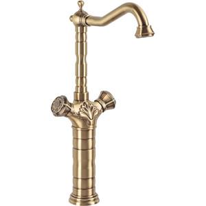 Смеситель для раковины / мойки Bronze De Luxe бронза (21973) кран сливной для бани bronze de luxe насадка для шланга бронза 21982 2