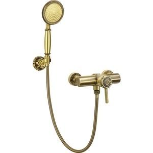 Смеситель для душа Bronze De Luxe с настенным держателем бронза (10123) кроксы fashion brand cross 10123