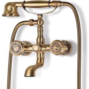 Смеситель для ванны Bronze De Luxe с коротким изливом 11 см, бронза (10119) ковер shaggy de luxe 8000 11 800х1500мм полипропилен