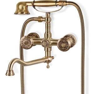 Смеситель для ванны Bronze De Luxe с длинным изливом 25 см, бронза (10119D) платок 90 90 см foulard de luxe цвет мультиколор