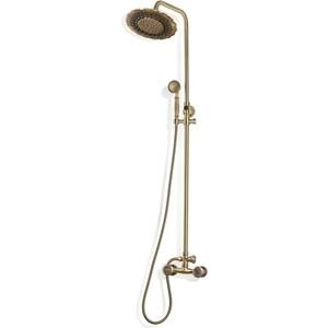 Душевая система Bronze De Luxe без излива, бронза (10118DF) цена и фото