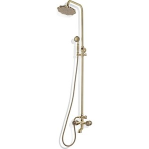 Душевая система Bronze De Luxe короткий излив, бронза (10121F)