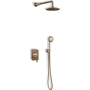Душевая система Bronze De Luxe встраивыемая, бронза (10138DF)