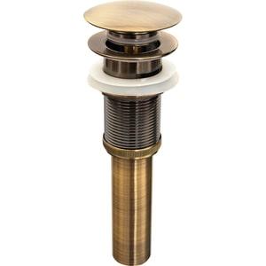 Донный клапан для раковины Bronze De Luxe клик-клак бронза (21972)