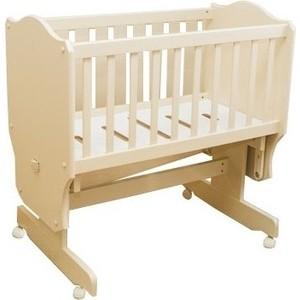 Кроватка-колыбель Vikalex Паулина С-862, слоновая кость (С-862-11) кроватка с маятником sweet baby eligio avorio слоновая кость
