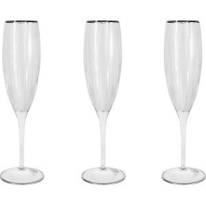 Набор бокалов для шампанского Same Пиза серебро (SM2103_SAL)