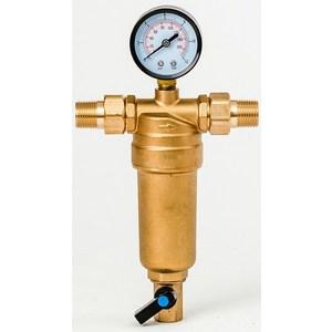 Фильтр предварительной очистки Гейзер Бастион 7508165201 (1/2 для горячей воды, с манометром d53) (32677)