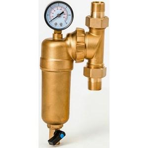 Фильтр предварительной очистки Гейзер Бастион 7508095201 (3/4 для горячей воды, с манометром d60) (32679)