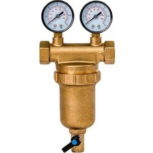 Фильтр предварительной очистки Гейзер Бастион 7508145201 (3/4 для горячей воды, с двумя манометрами d76) (32685)