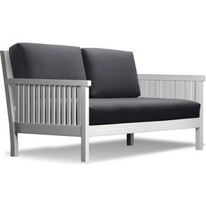 Диван Anderson Норман эмаль-черная рогожка диван anderson норман венге фиолетовая рогожка