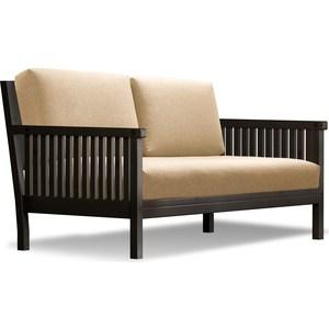 Диван Anderson Норман венге-бежевая рогожка шатура комплект лондон 2 рогожка микс бежевая диван 2 кресла