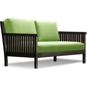 Диван Anderson Норман венге-зеленая рогожка диван anderson норман венге фиолетовая рогожка