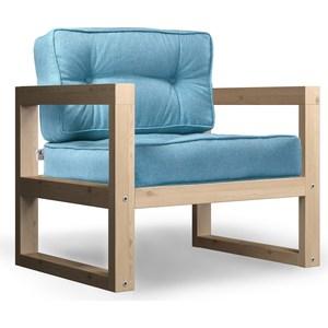 Кресло Anderson Астер сосна-синяя рогожка.