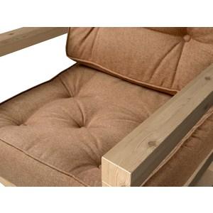 Кресло Anderson Астер сосна-коричневая рогожка.