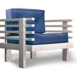 Кресло Anderson Стоун бел дуб-синий кож.зам