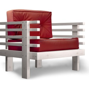 Кресло Anderson Стоун бел дуб-красный кож.зам