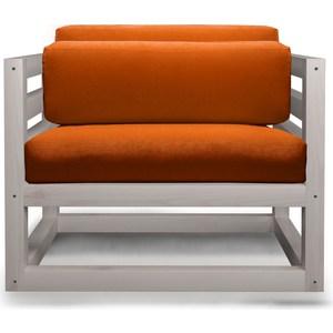 Кресло Anderson Магнус бел дуб-оранжевый вельвет. чаша горошек 2 л бел син 1150426