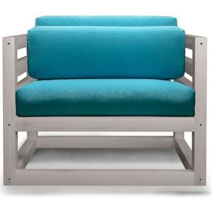 Кресло Anderson Магнус бел дуб-голубой вельвет.