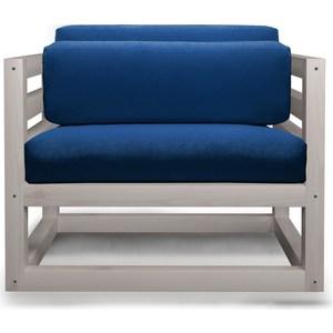 Кресло Anderson Магнус бел дуб-синий вельвет.
