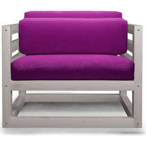 Кресло Anderson Магнус бел дуб-фиолетовый вельвет.