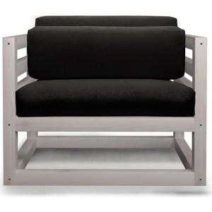 Кресло Anderson Магнус бел дуб-черный вельвет.