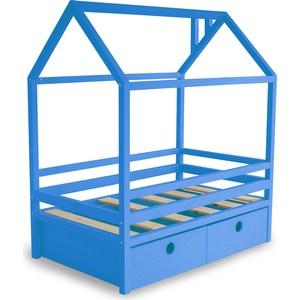 Фотография товара кровать Anderson Дрима BOX голубая 80x190 (740598)
