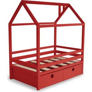Фотография товара кровать Anderson Дрима BOX красная 90x190 (740605)