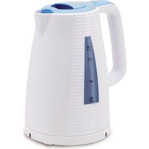Чайник электрический Polaris PWK 1743C голубой/белый чайник электрический polaris pwk 1752c зеленый белый