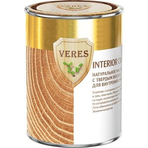 Масло для древесины VERES OIL INTERIOR с воском для внутр.работ № 8 темный дуб 0.9л.