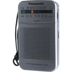 Радиоприемник Panasonic RF-P50DEG-S panasonic rf p50eg9 s radio fm stereo portable radio receiver music play speaker full band