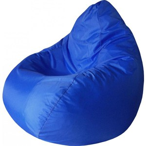Кресло-груша Папа Пуф Оксфорд синий кресло груша папа пуф экокожа белый