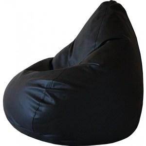 Кресло-груша Папа Пуф Экокожа черный