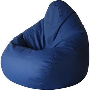 Кресло-груша Папа Пуф Экокожа синий