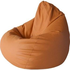 Кресло-груша Папа Пуф Экокожа оранжевый кресло груша папа пуф экокожа белый