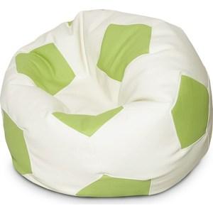 Кресло-мяч Папа Пуф Kids бело-зеленое