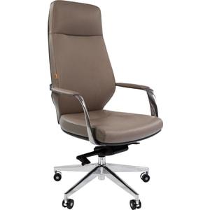 Кресло Chairman 920 кожа/кз, светло-серый/темно-серый zogaa светло серый номер 4xl