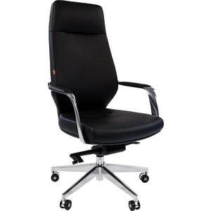 Кресло Chairman 920 кожа/кз, черный