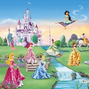 Фотообои Disney Princess Castle (3,68х2,54 м) disney princess train case