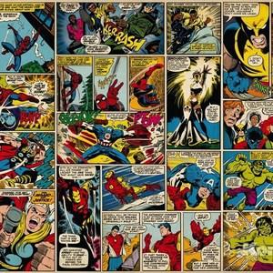 Фотообои MARVEL Marvel Comic Heroes (3,68х2,54 м) oreimo comic anthology