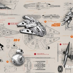 Фотообои Star Wars STAR WARS Blueprints (3,68х2,54 м) star wars series mini diamond diy building blocks children educational toy