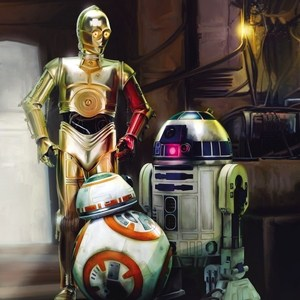 Фотообои Star Wars STAR WARS Three Droids (1,84х2,54 м)