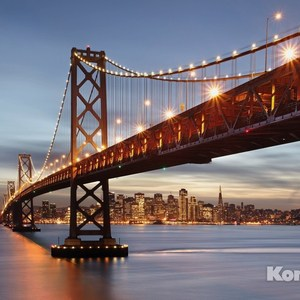 Фотообои Komar Bay Bridge (3,68х2,54 м) (8-733) фотообои komar brooklyn bridge 3 68х1 24 м xxl2 320
